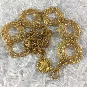 """Vintage Gold statement belt adjustable up to 42"""""""